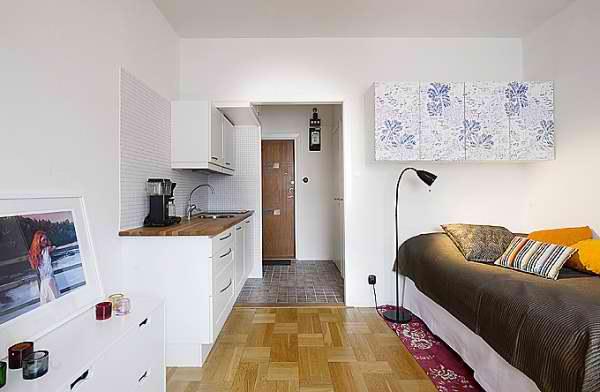 дизайн комнаты 18 кв.м с перегородкой в однокомнатной квартире фото